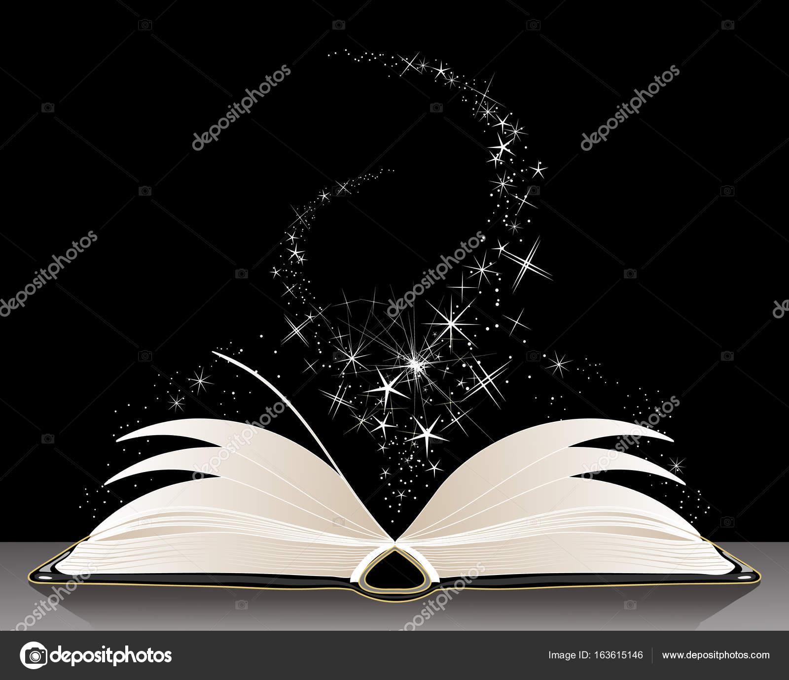Black magic spell book — Stock Vector © sandesh1264 #163615146