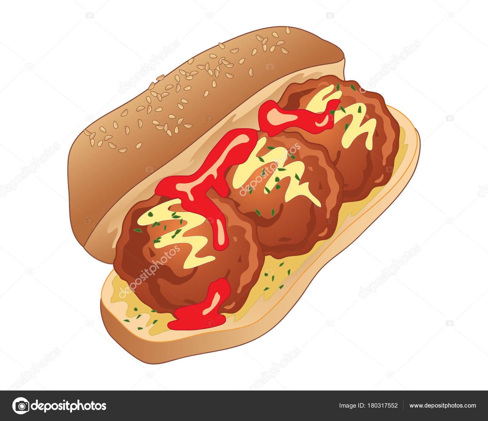 Hero Sandwich Clipart