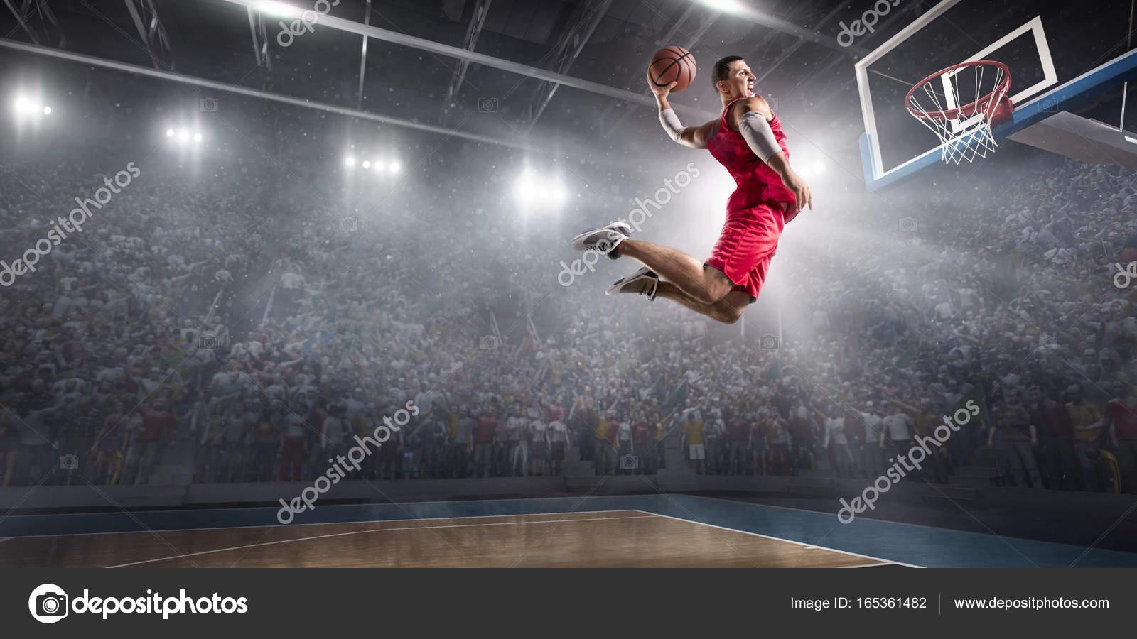Nba Dunk Wallpaper Hd Basketball Player Makes Slam Dunk