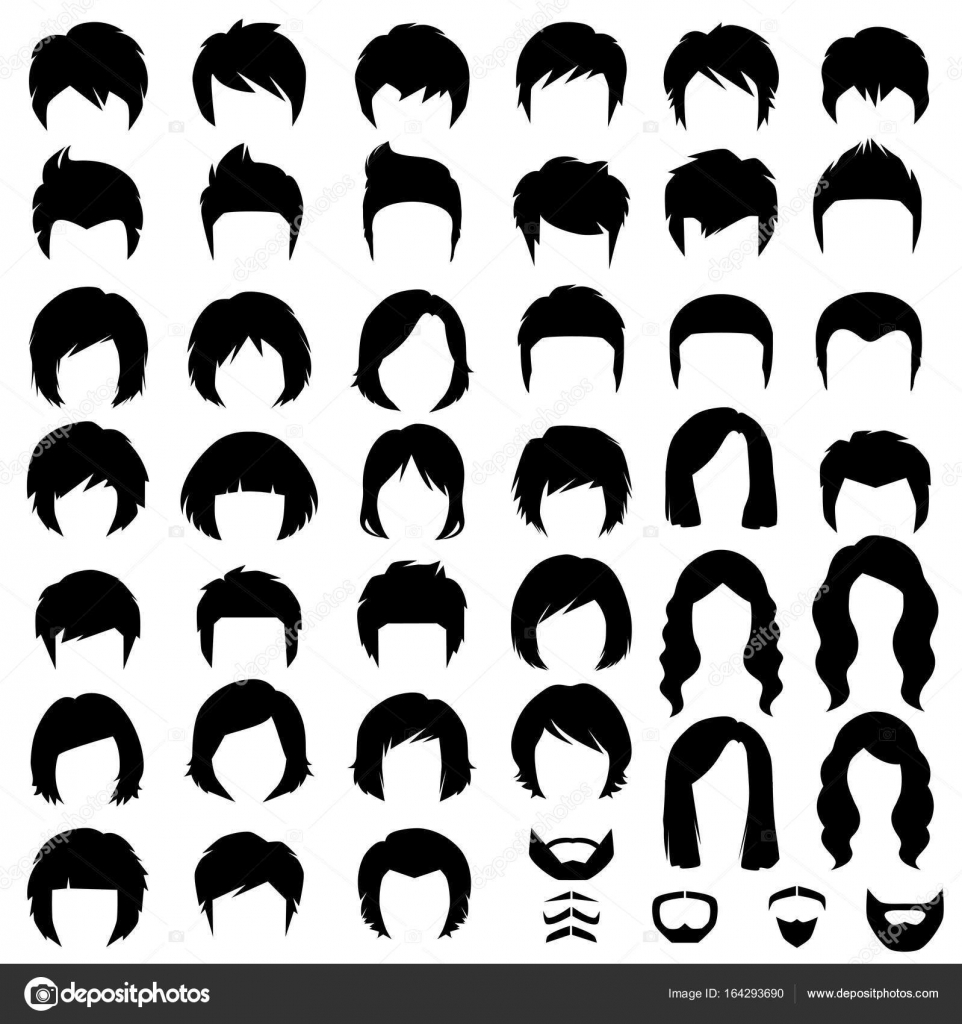 Vector Hairstyles: Hair, Vector Hairstyle Silhouette