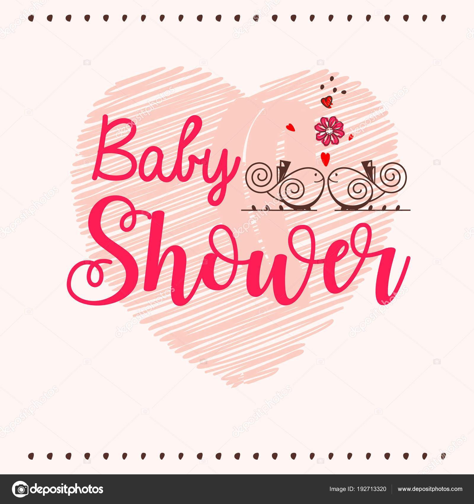 Baby Dusche Einladung Vorlage Grußkarte Mit Hand Schriftzug ...