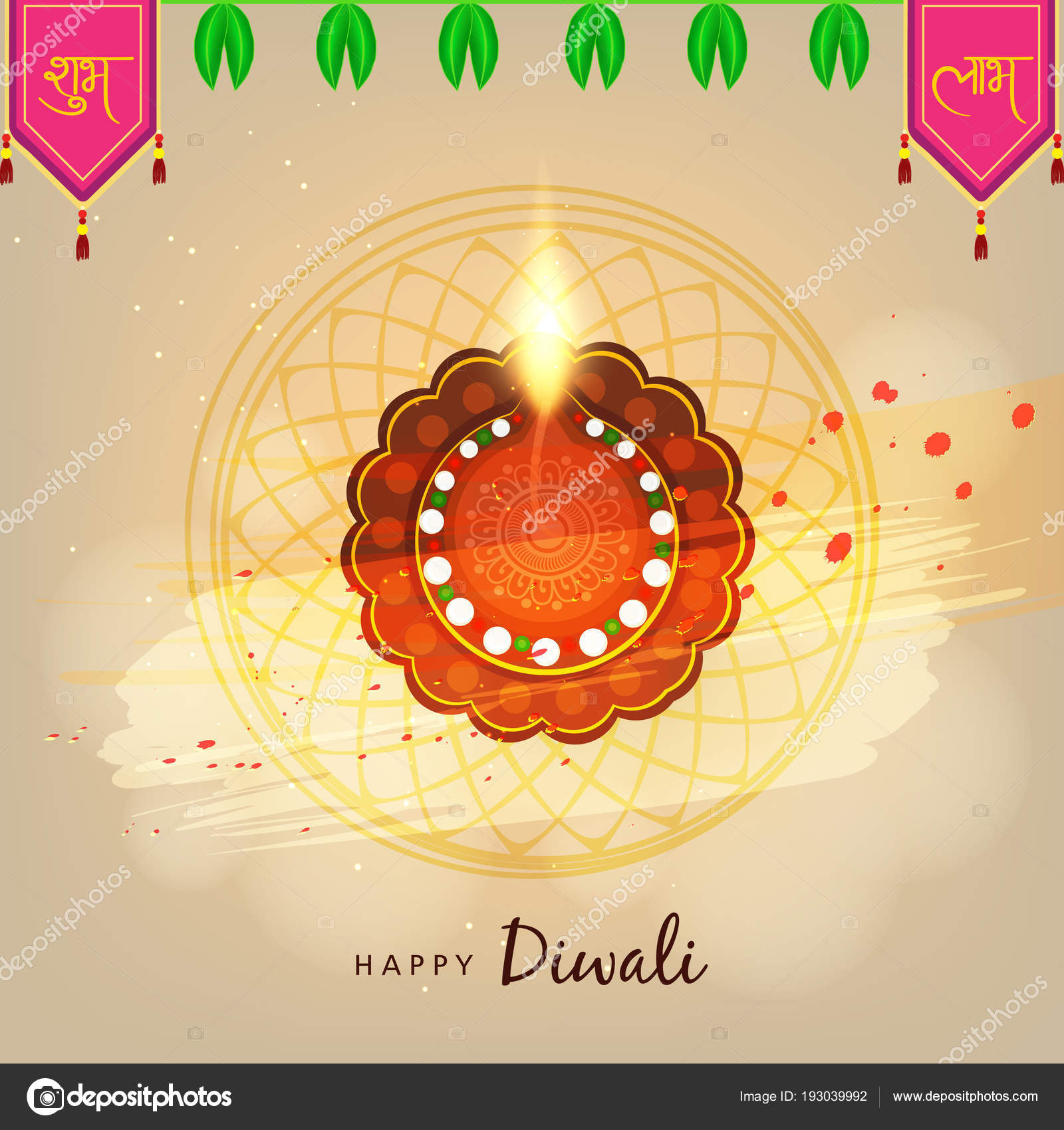 Creative greeting card design happy deepavali festival celebration creative greeting card design for happy deepavali festival celebration on colorful background vector by nekiart m4hsunfo