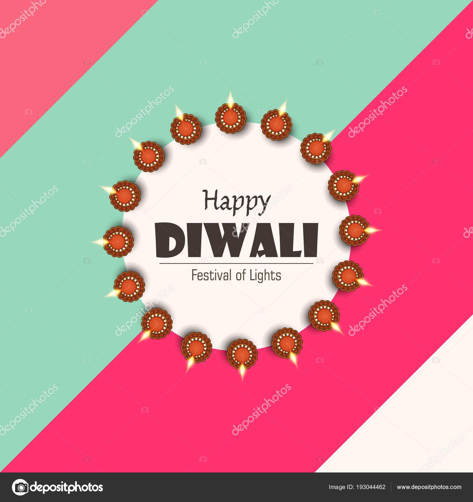 Creative Greeting Card Design Happy Deepavali Festival Celebration