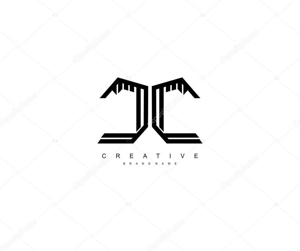 Initial Letter Cc Monogram Linear Sharp Professional Modern Logotype Premium Vector In Adobe Illustrator Ai Ai Format Encapsulated Postscript Eps Eps Format