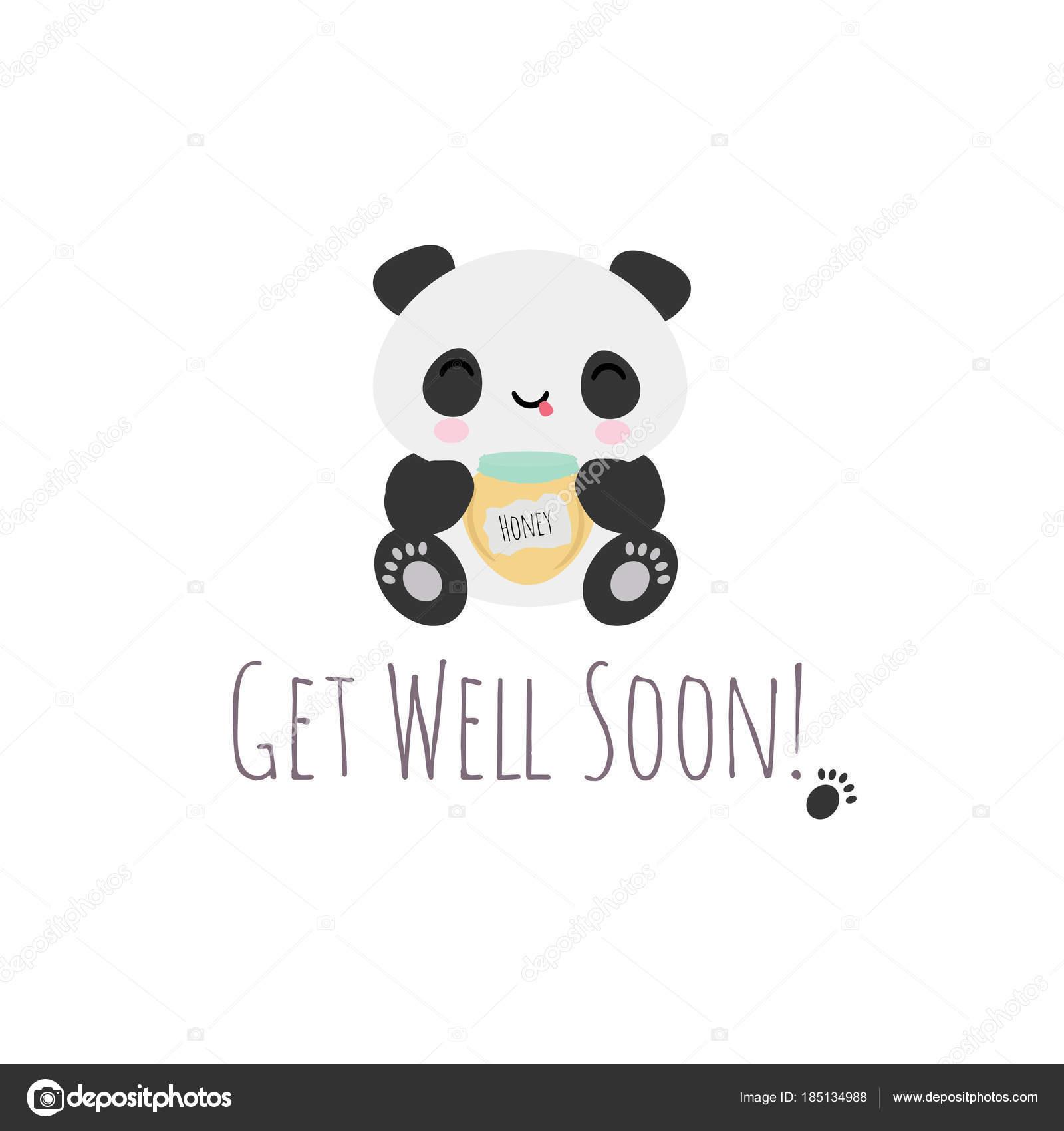 get well soon panda stock vector owainphyfe 185134988