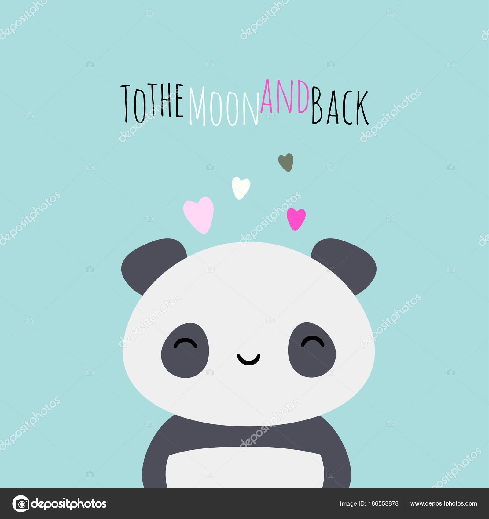 Fondo Feliz Cumpleanos Amor Oso Panda Amo A La Luna Y Vuelta Oso
