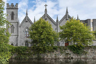 Saint Vincent Convent of Mercy behind Corrib River, Galway Irela
