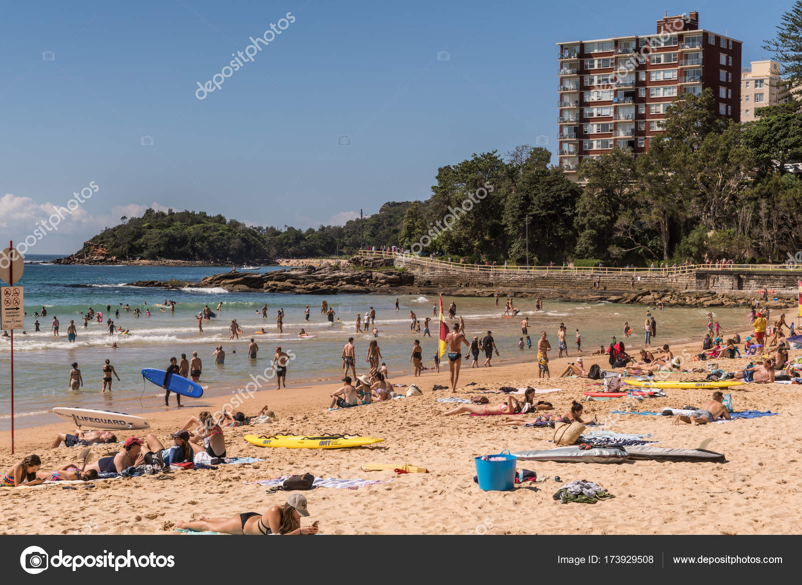 South Section Of Manly Beach Sydney Australia Stock Photo