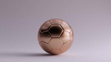 Bronze Football 3d illustration 3d render