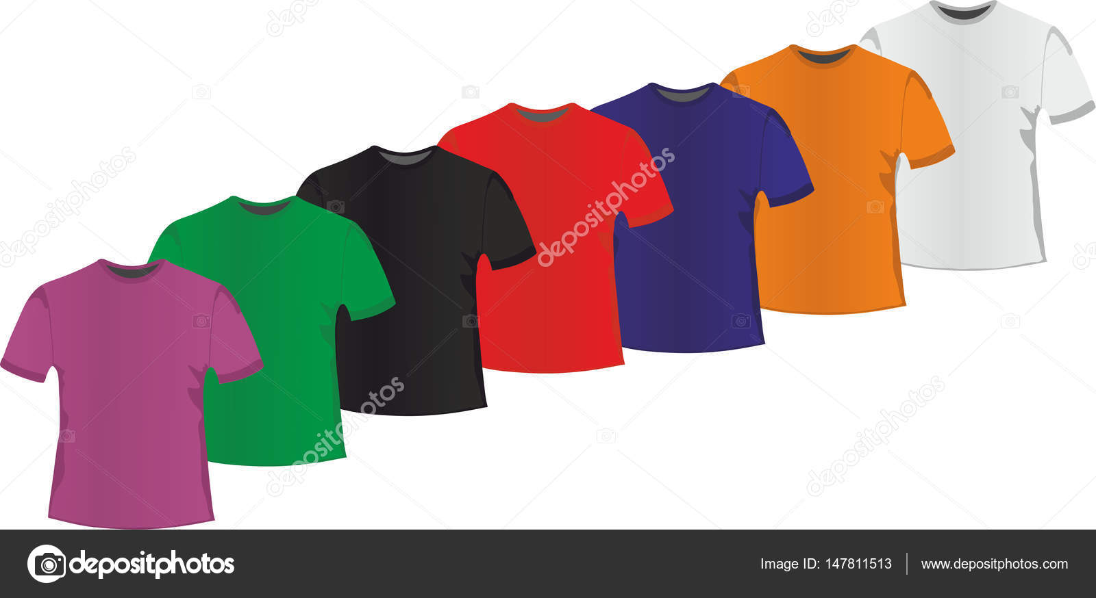 a9d35e324dca μια σειρά από Ανδρικά μπλουζάκια — Διανυσματικό Αρχείο ...