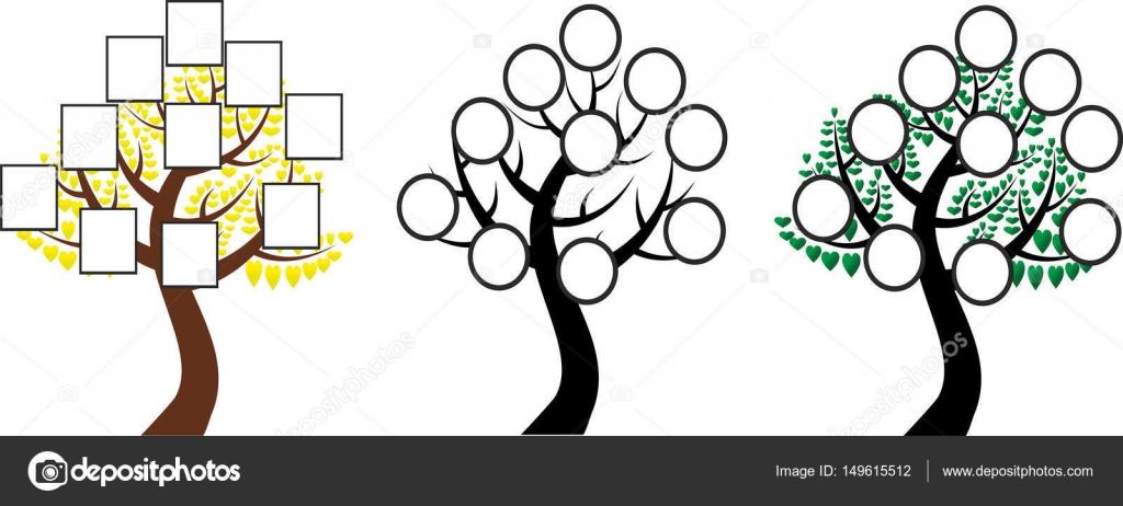 El árbol De Familia Del árbol De La Vida Vector De Stock