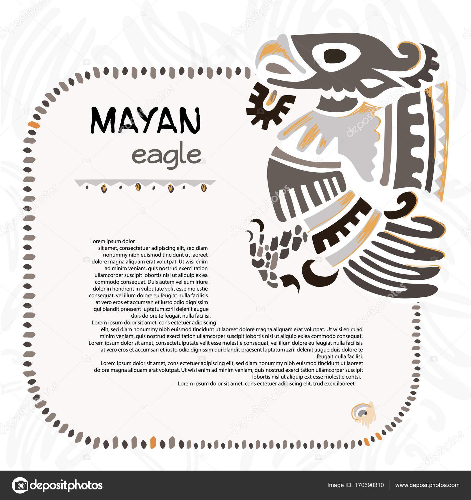 Abstract Maya And Aztec Symbol Of An Eagle Stock Vector Helga7
