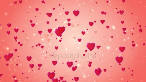 The dynamic movement of small hearts. Romantic red background. Available in high-resolution and several sizes to fit the needs of your project. 3D animation. If you buy this footage, I will be very grateful to you!