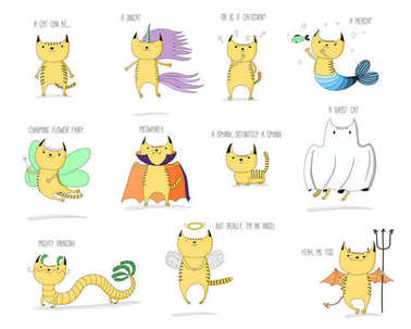 Mythical creatures cats