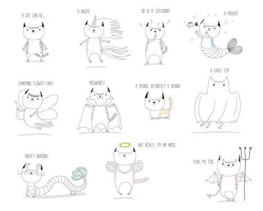 Cute cats mythical creatures