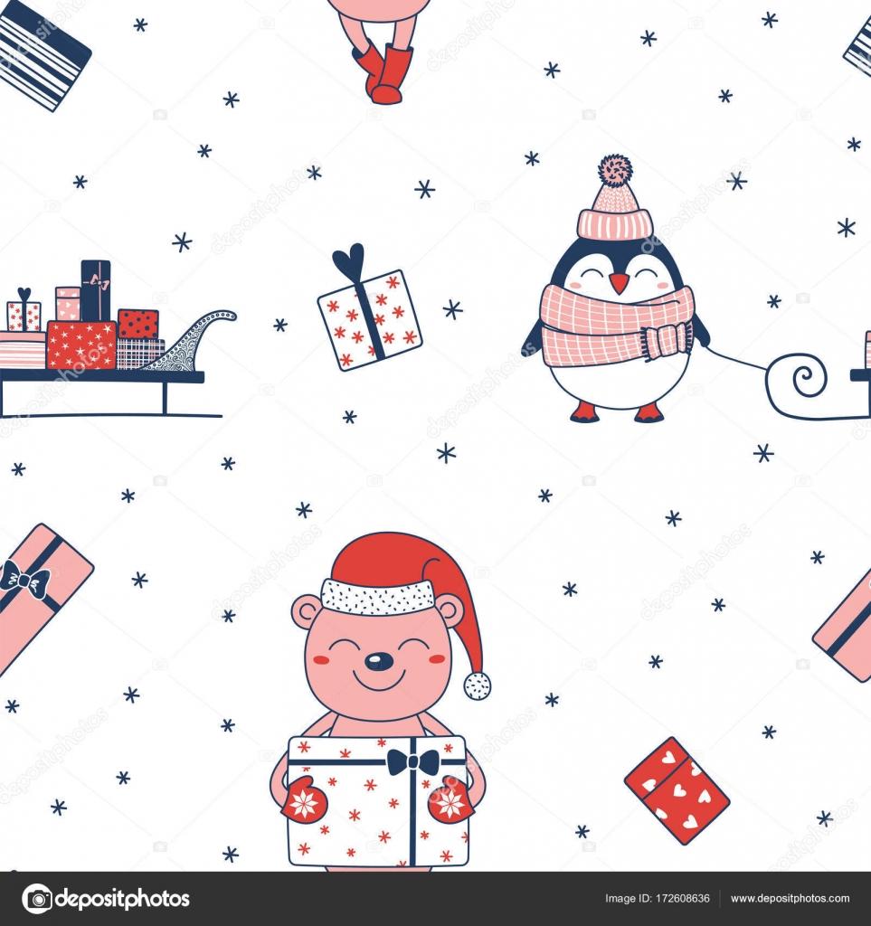 patrones de Navidad sin fisuras — Vector de stock © Maria_Skrigan ...