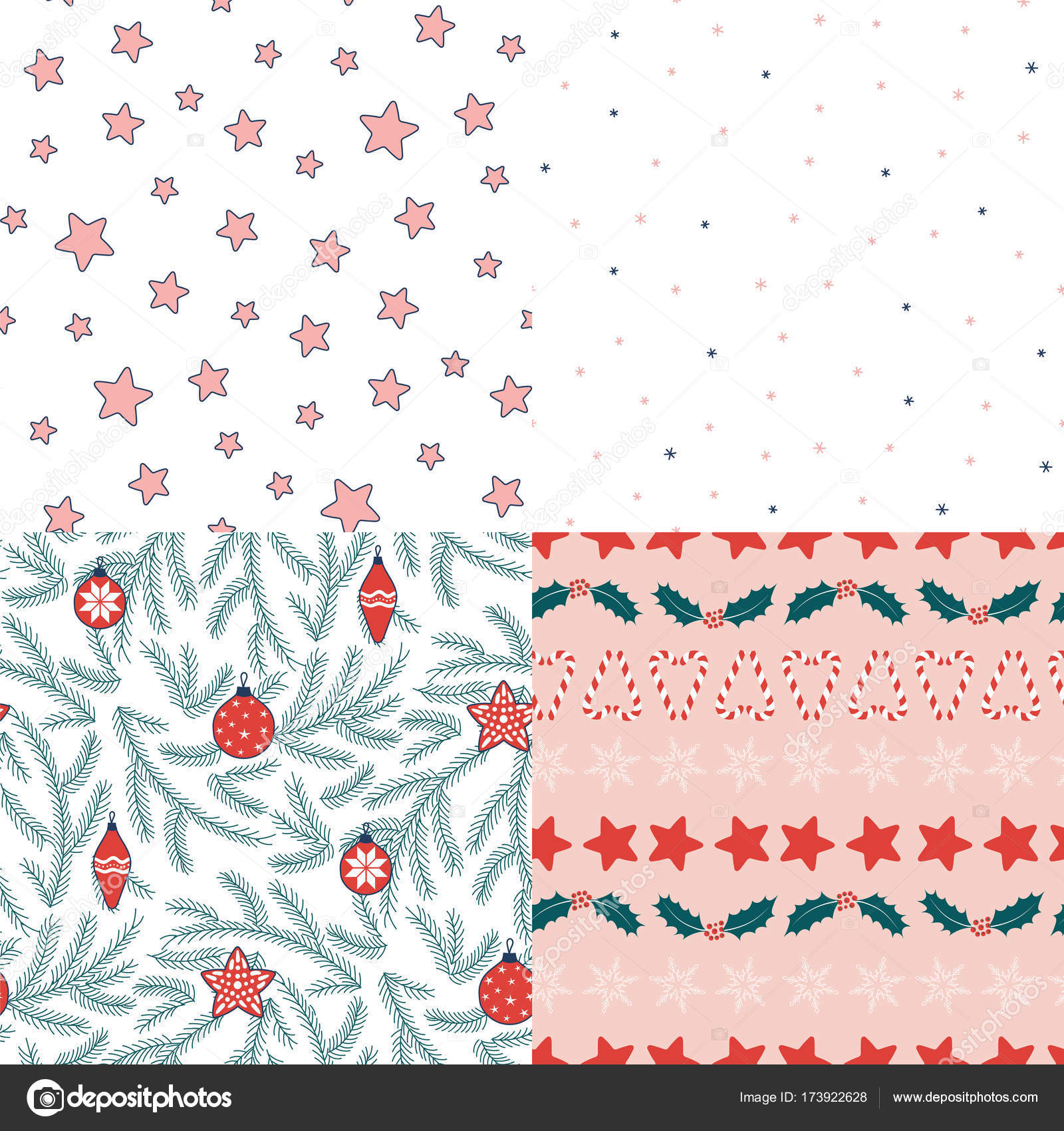 sin costura patrones de Navidad — Vector de stock © Maria_Skrigan ...