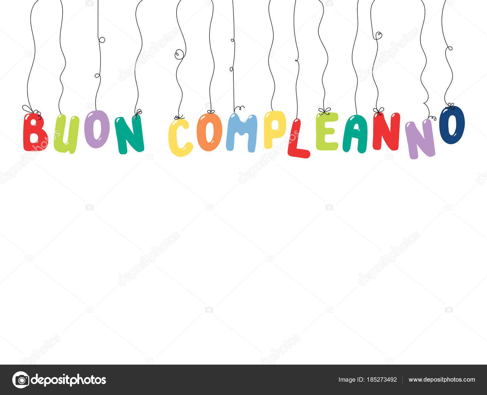 přání k narozeninám v italštině Ručně Tažené Přání Narozeninám Barevnými Balónky Řetězce Tvaru  přání k narozeninám v italštině