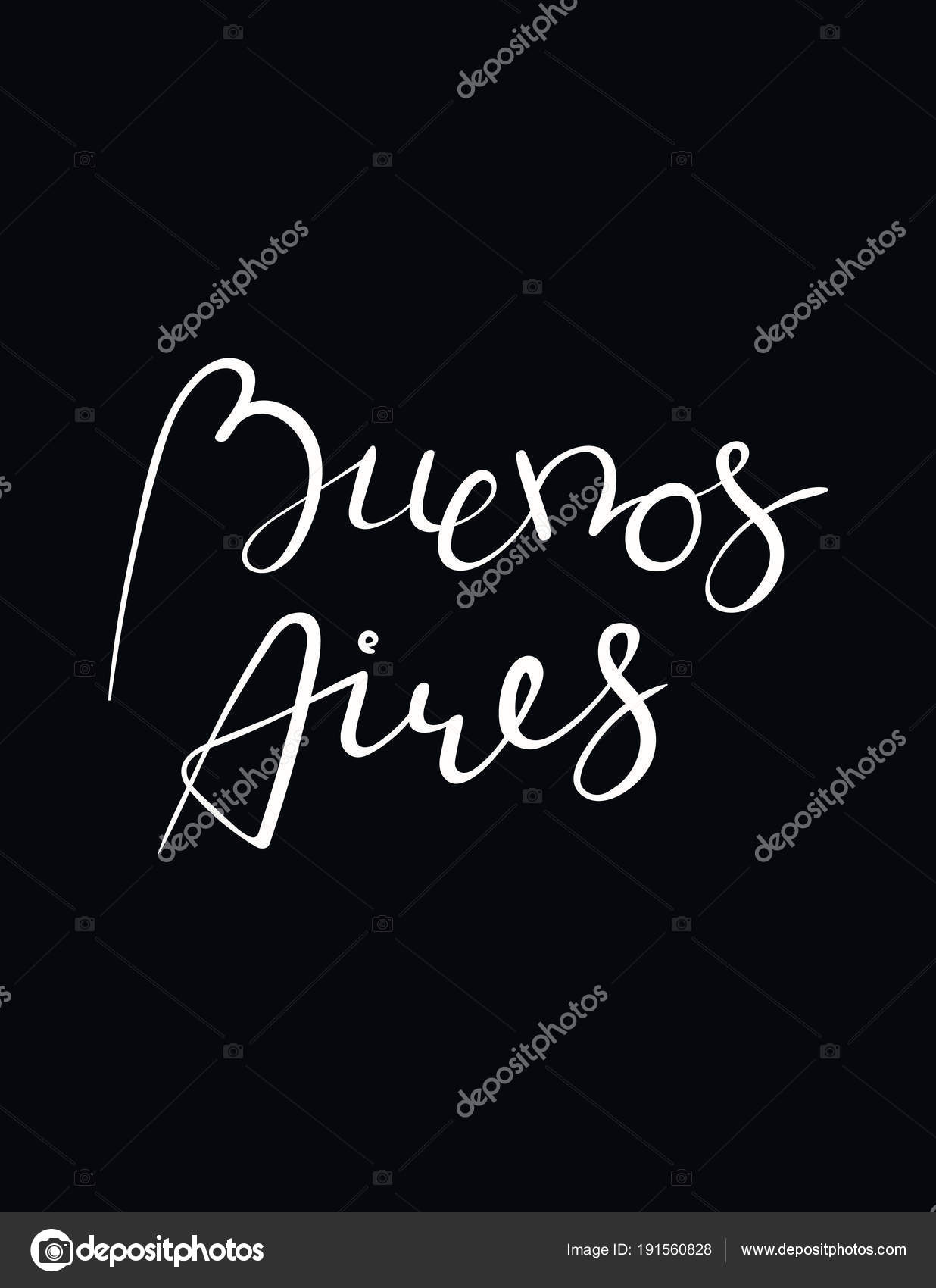 Greeting Card Hand Written Tango Quote Buenos Aires Spanish Black