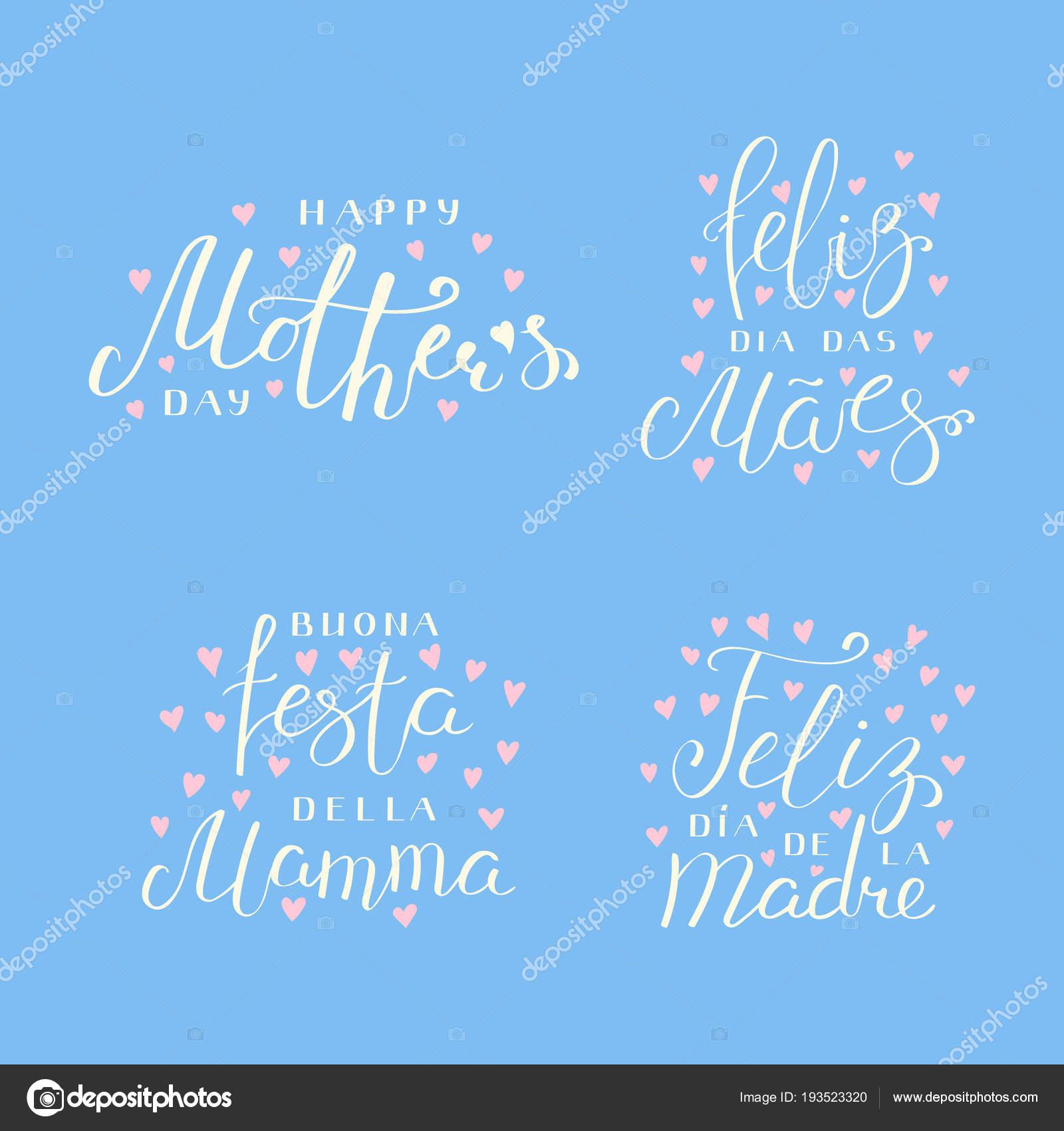 Fotos Corazones Con Frases En Ingles Conjunto Mano Escrita Día