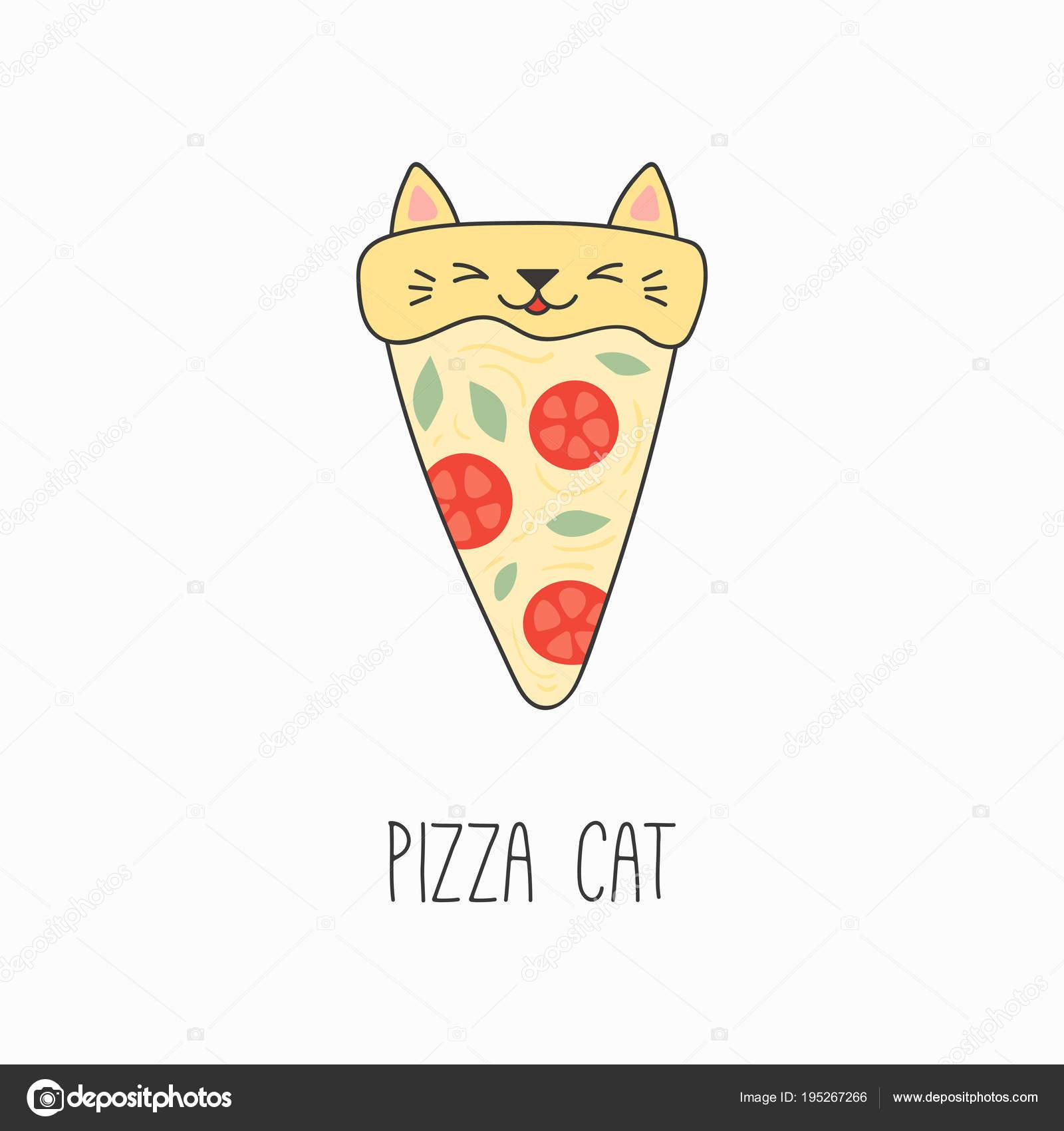 Dibujos Cara De Pizza Descargar Ilustración Vector