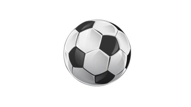 Fotbalový míč izolované na bílém pozadí