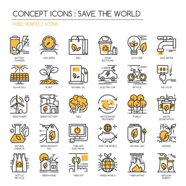 Save the world Icons