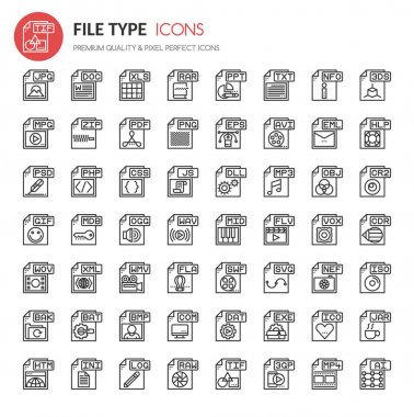 File Format Type Icons set