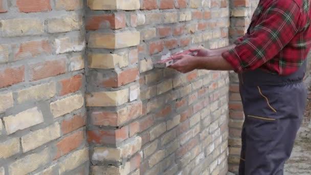 Pracovní vyšetřující cihlová zeď
