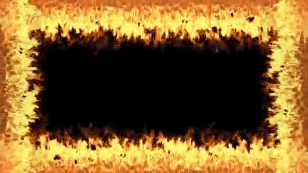 Plameny rám izolované na černém pozadí