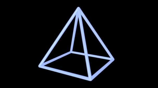 Blue pyramid edges