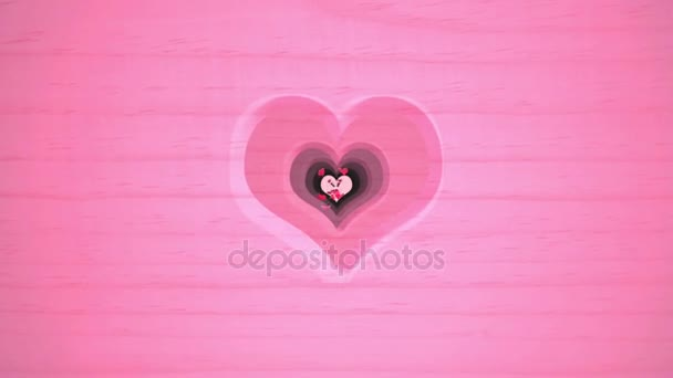 Otvor tvaru srdce a vlající motýly