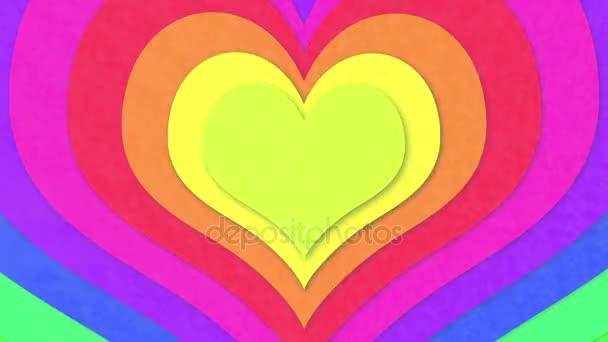 Soustředné barevné srdce