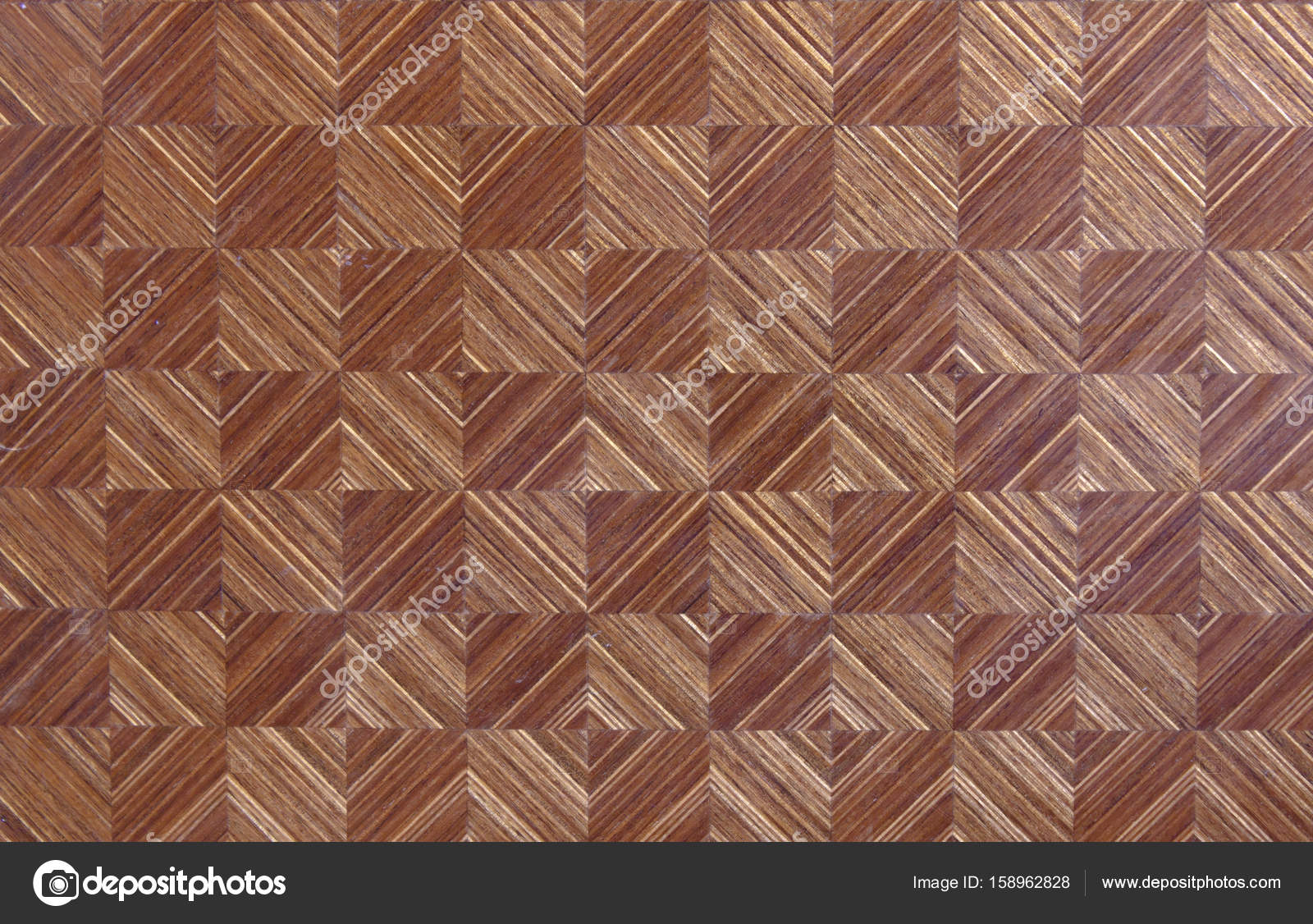 mosaico di legno marrone — Foto Stock © malekas #158962828