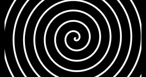 Schwarz-weiße Spiralschleifen-Animation