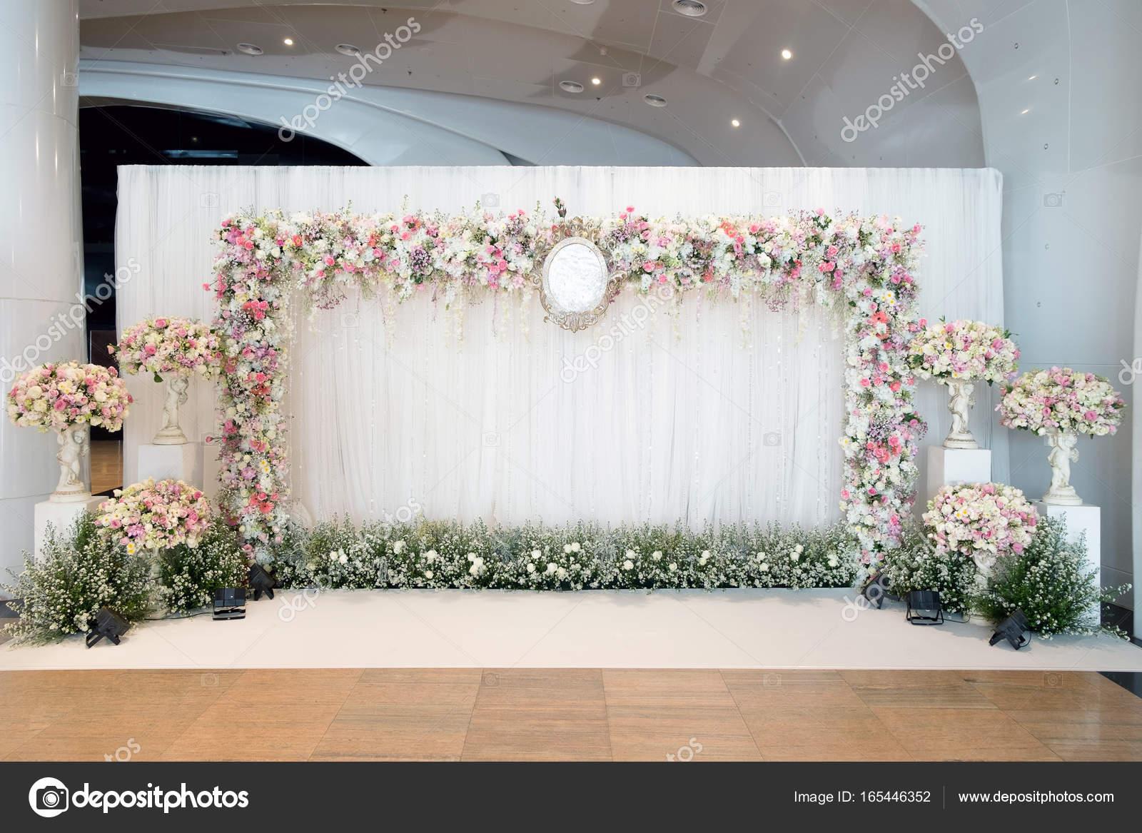Interior Luxuoso Cenário De Cerimônia De Casamento