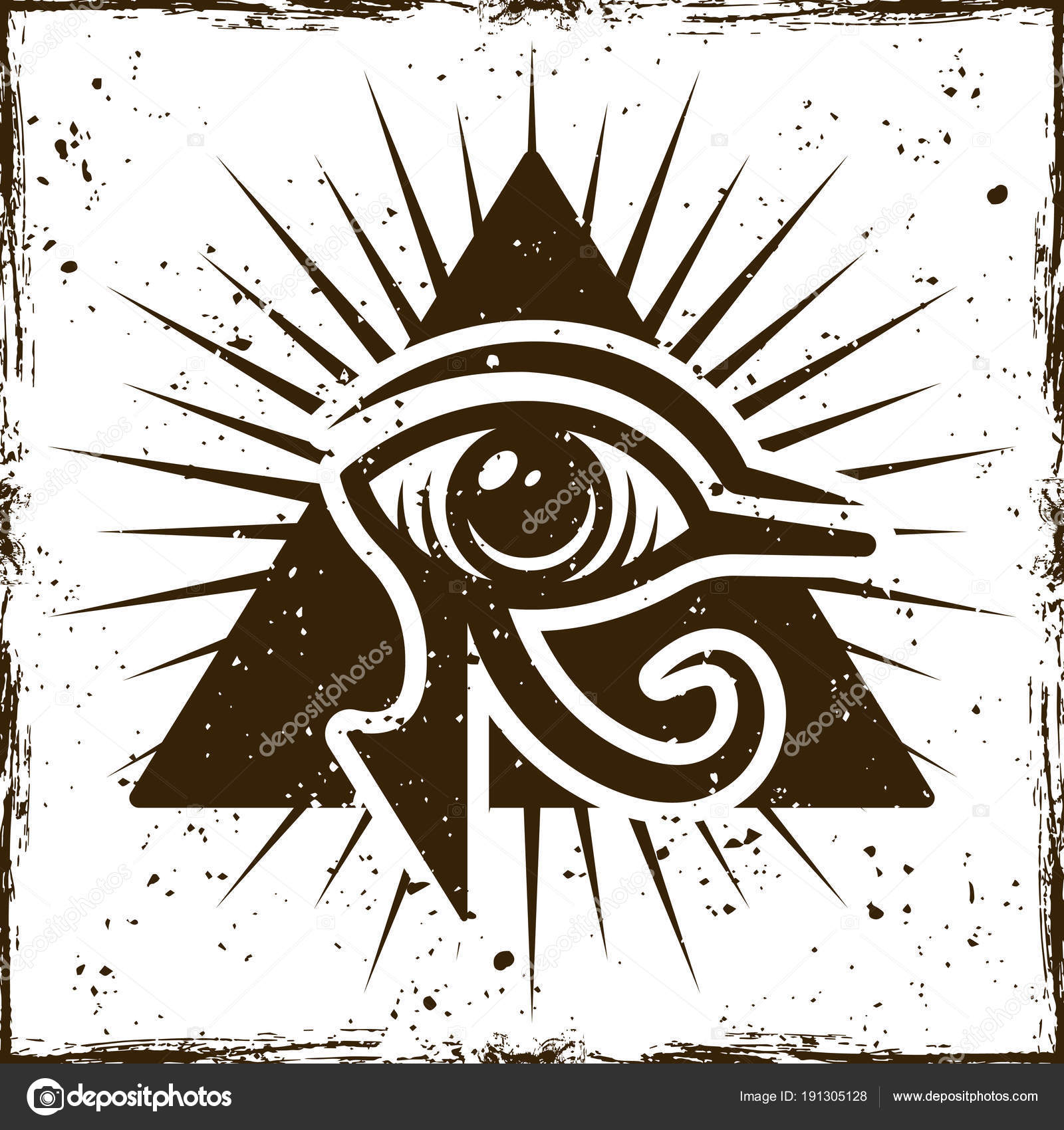Eye Of Horus In Triangle Ancient Egyptian Symbol Stock Vector
