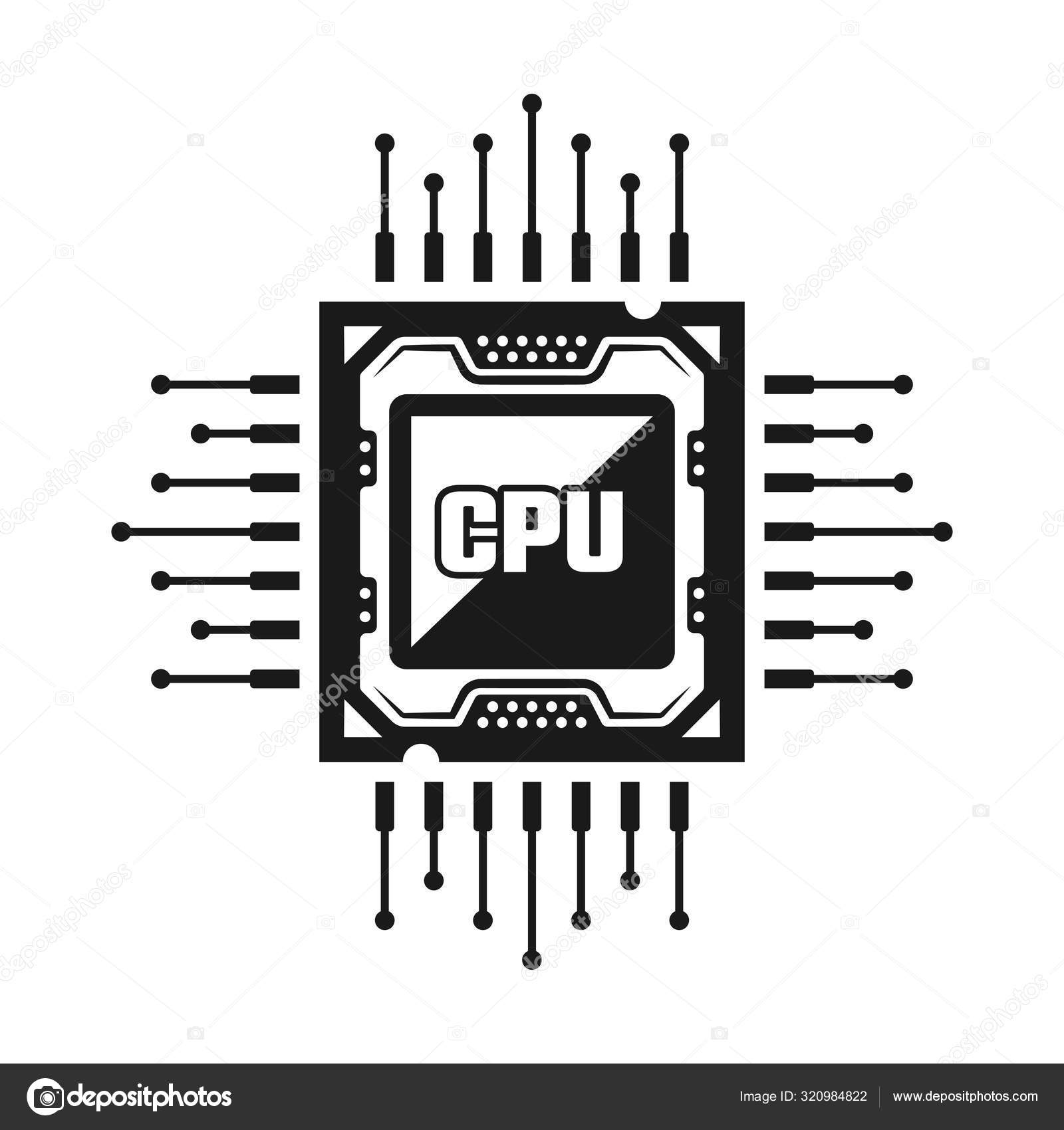 computer cpu vector object or design element stock vector c flat enot 320984822 https depositphotos com 320984822 stock illustration computer cpu vector object or html