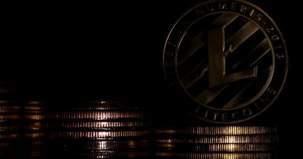 Litecoin (Ltc) homályos Vértes érmék. Új cryptocurrency és a modern banki koncepció.