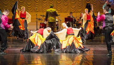 Russian Dancers on Stage