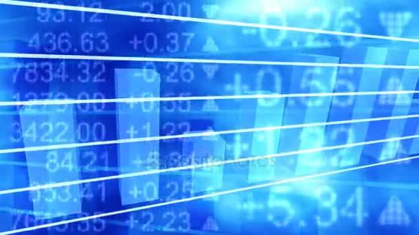 blue stock graph