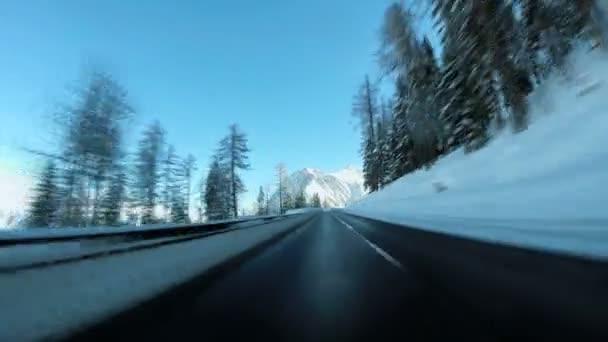 strada di inverno neve guida auto corsa velocità di movimento