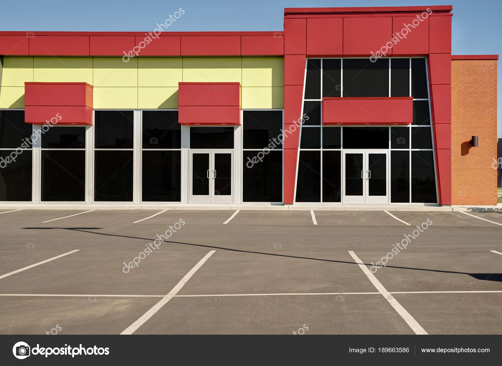 Devanture magasin générique inoccupés affaires bureaux