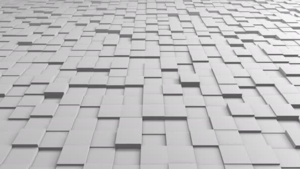 Tiles Cubes Loop 4k Background - White Clean - View 02