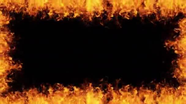 Jasné ohraničení ohně 4k - Loop 01