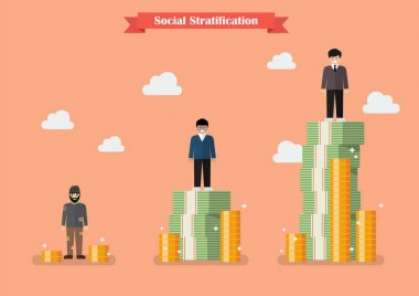 Social stratification with money