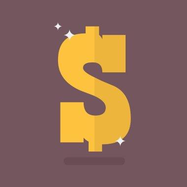 Dollar icon sign