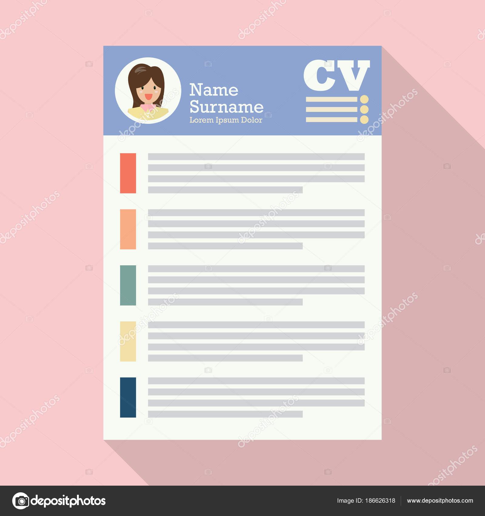 Curriculum Vitae u hoja de papel de uso de Cv — Vector de stock ...