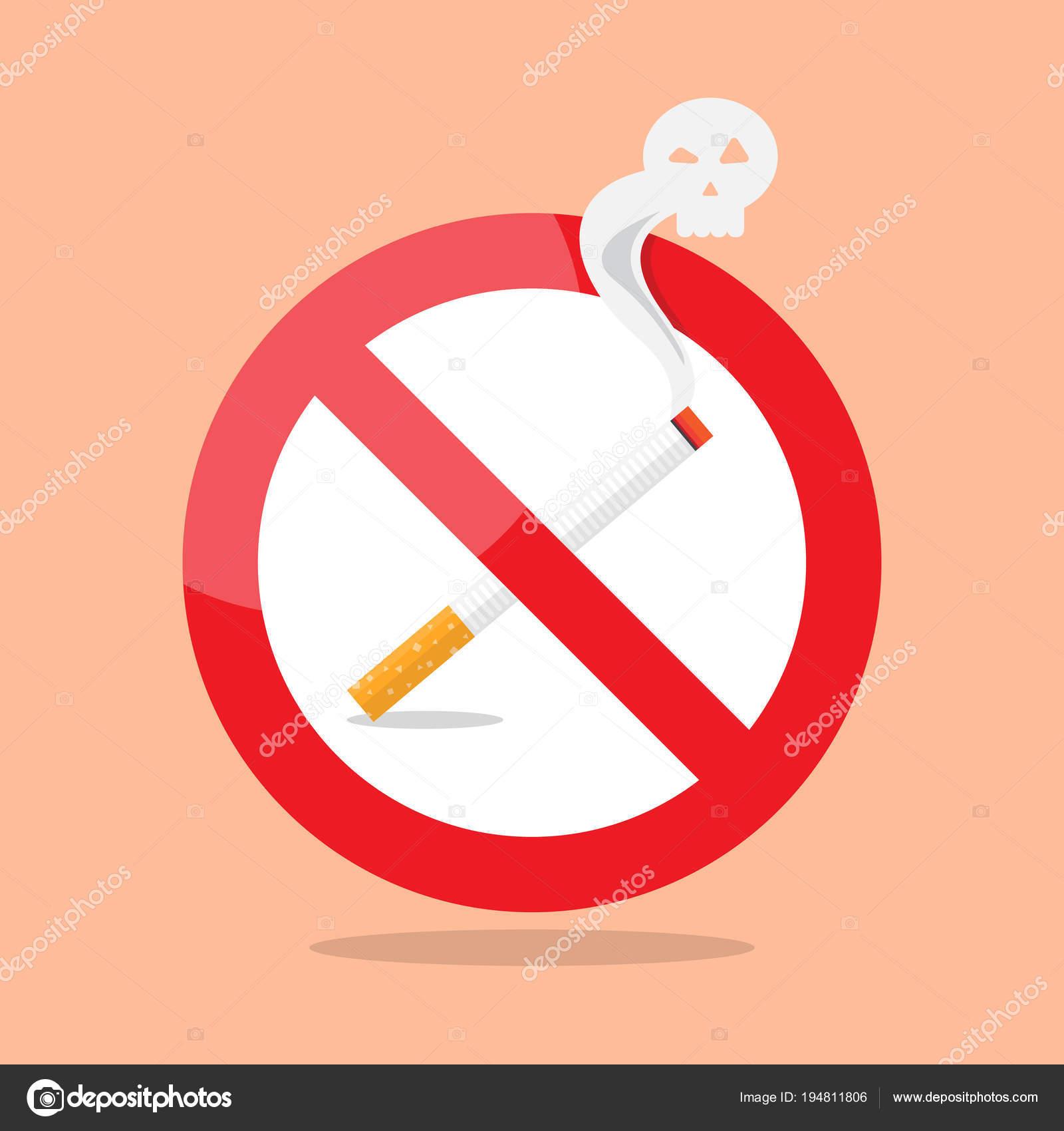 Aucun Panneau D Interdiction De Fumer Image Vectorielle