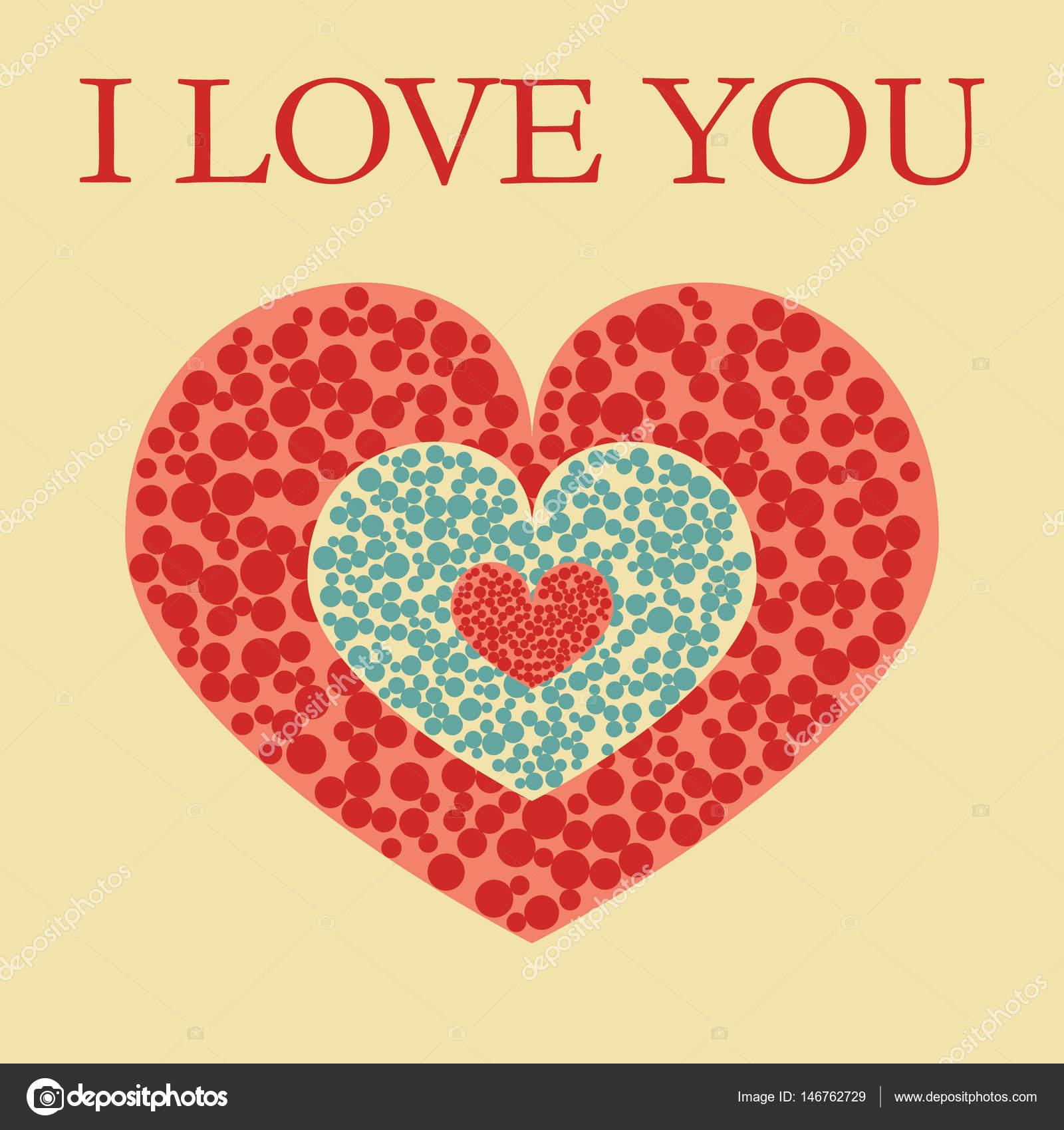 Kreis-Herz ich liebe dich blau — Stockvektor © Miaynata #146762729